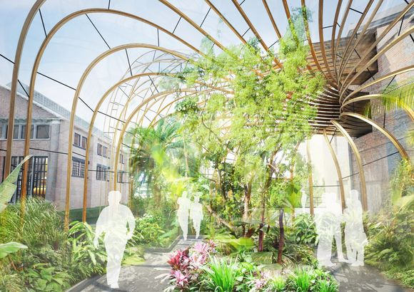 Bombay Sapphire Distillery. Visualisation 2 by Heatherwick Studio