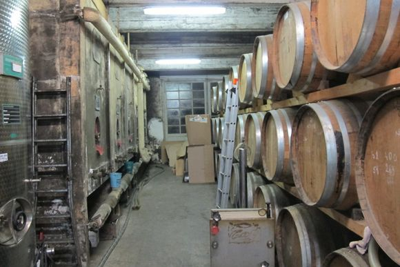 Downstairs warehouse Armagnac Delord