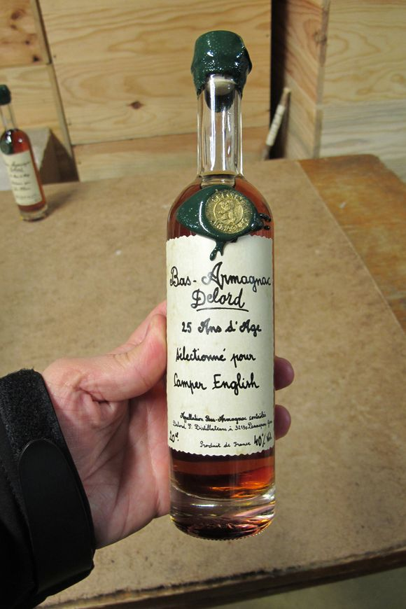 Self bottled Armagnac Delord