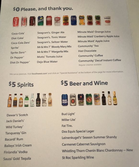 Airline Drink Menus - Alcademics