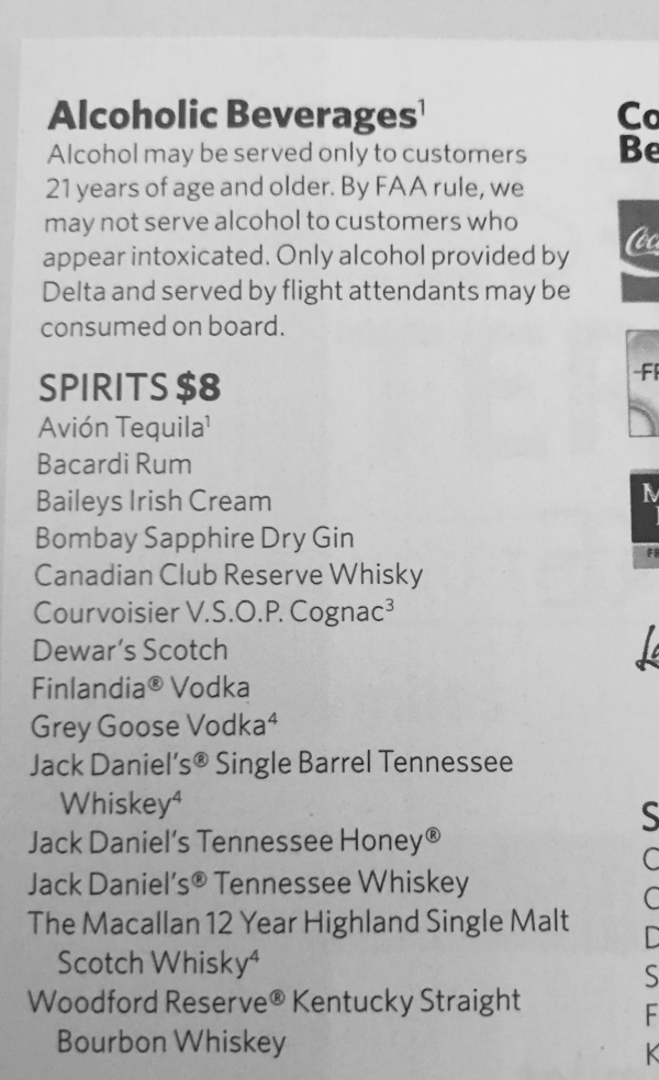 Airline Drink Menus Alcademics
