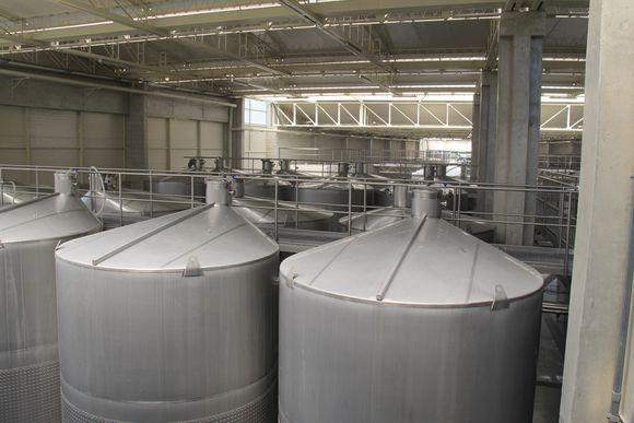 La Caravedo Distillery Pisco Porton Peru distillery tanks
