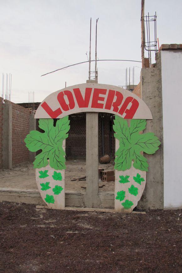 Lovera Distillery Pisco Peru sign3