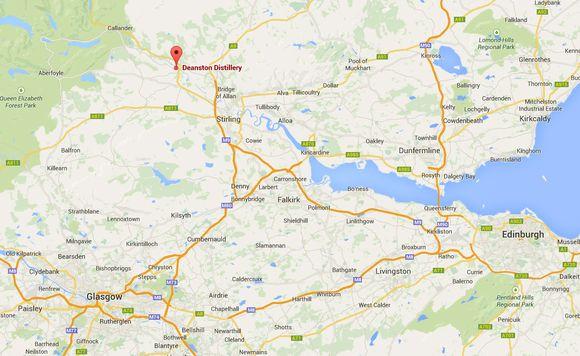 Deanston map