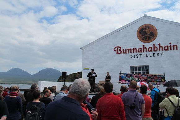 People Bunnahabhain Distillery Islay Scotland