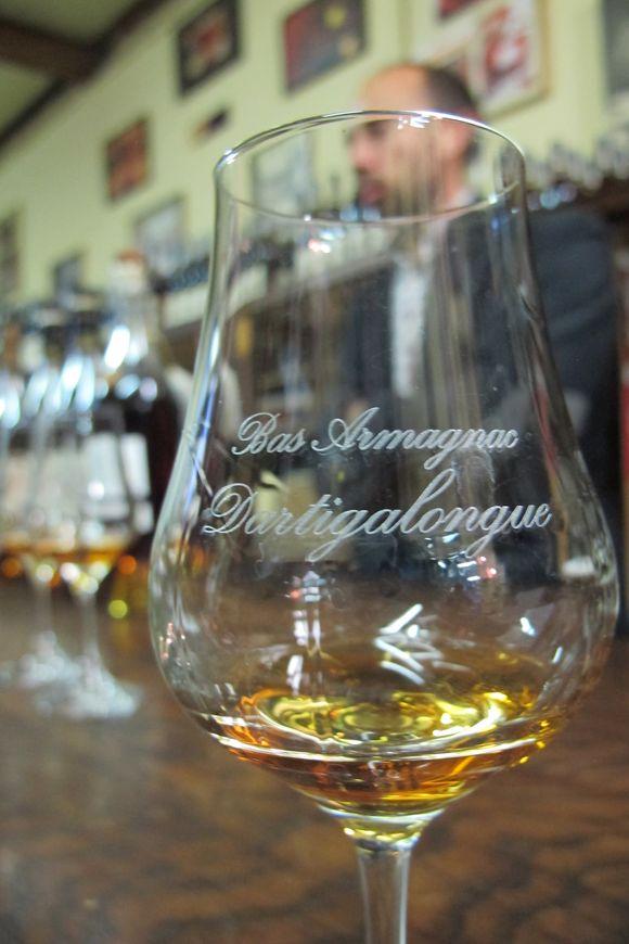 Old bottles Armagnac Dartigalongue