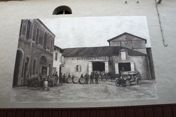 Vintage painting Armagnac Dartigalongue