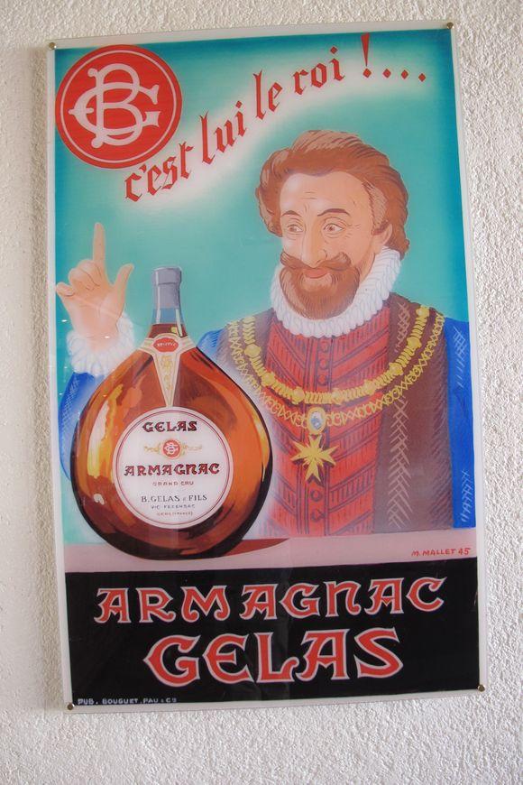 1897 demijohn Armagnac Gelas