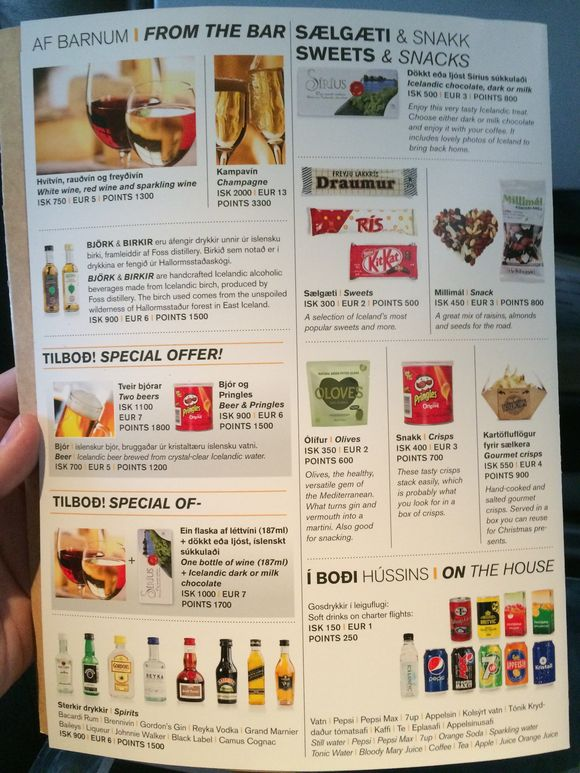 Iceland Air drink menu1
