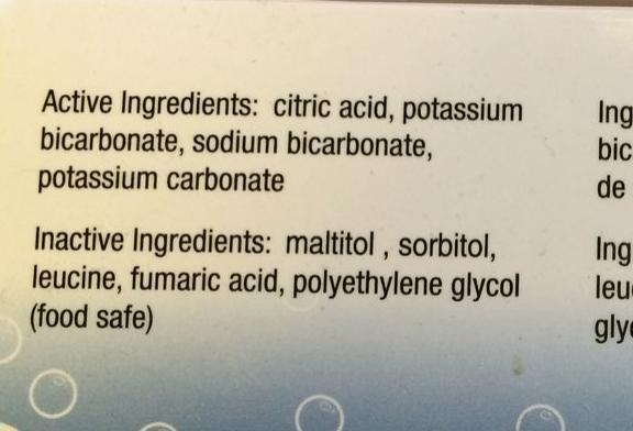 BonneO carbonator ingredients
