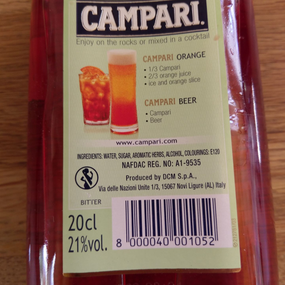 Campari sweden cochineal still