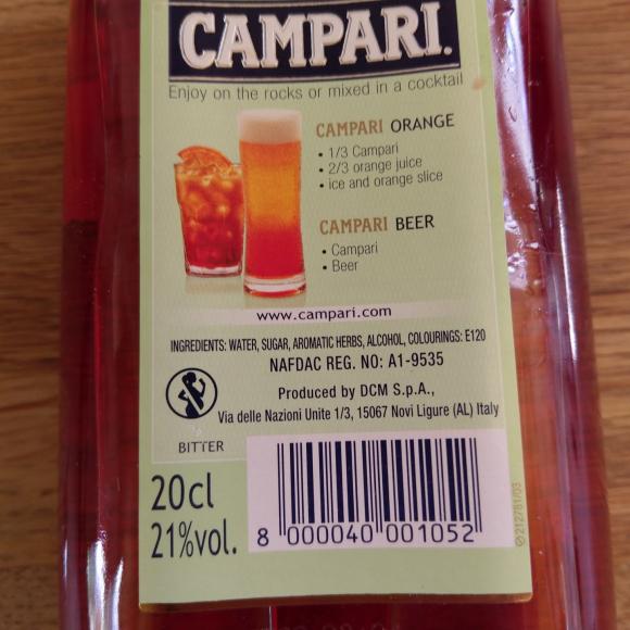 Campari sweden cochineal still