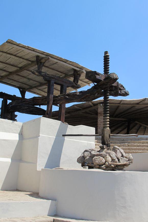 La Caravedo Distillery Pisco Porton Peru wine press2