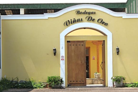 Vinas de Oro Pisco Distillery Peru entrance