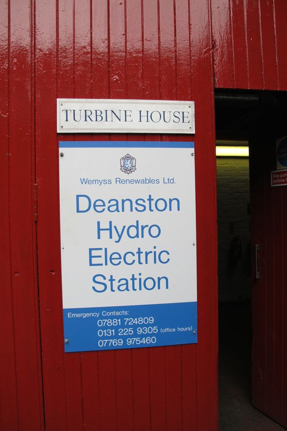 Deanston Scotch Whisky Distillery hydro electric station