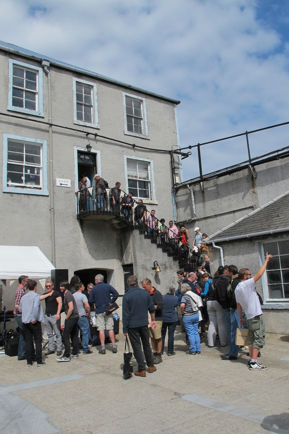 Bunnahabhain Distillery Islay Scotland line for bottles