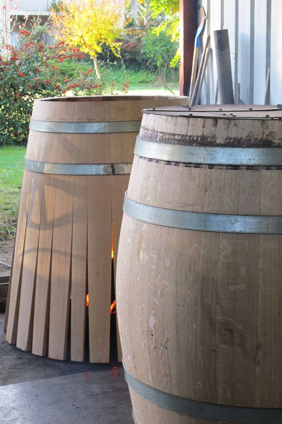 Barrel tight and toast M Gilles Bartholomo Cooperage Armagnac
