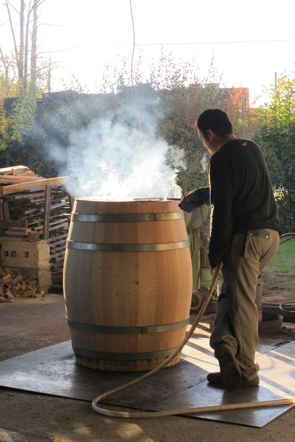 Barrel work 5 M Gilles Bartholomo Cooperage Armagnac