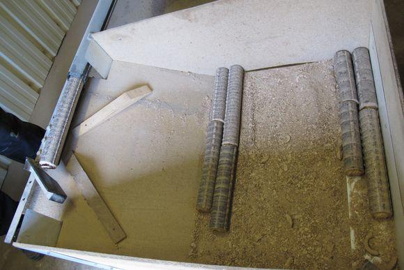 Sawdust logs M Gilles Bartholomo Cooperage Armagnac