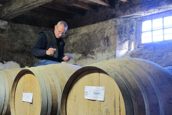 Cellar master at Chateau de Maniban Armagnac