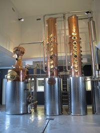 Purity Vodka distillery stills