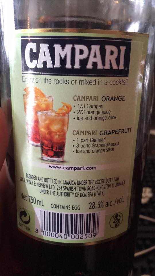Jamaican campari contains egg