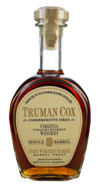 Truman Cox First Whiskey Barrel Barrel Proof 139.6prf 750ml Glass