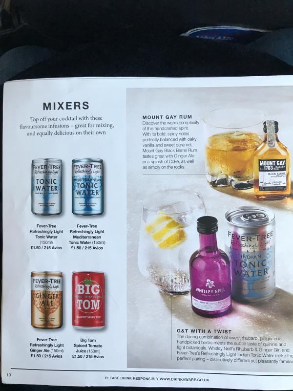 Airline Drink Menus - Alcademics